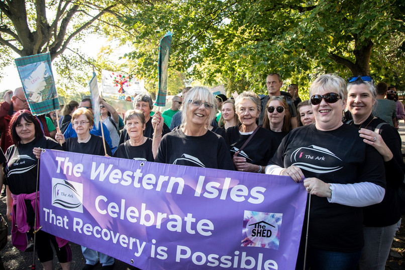 The Ark ladies doing the Recovery Walk in Inverness