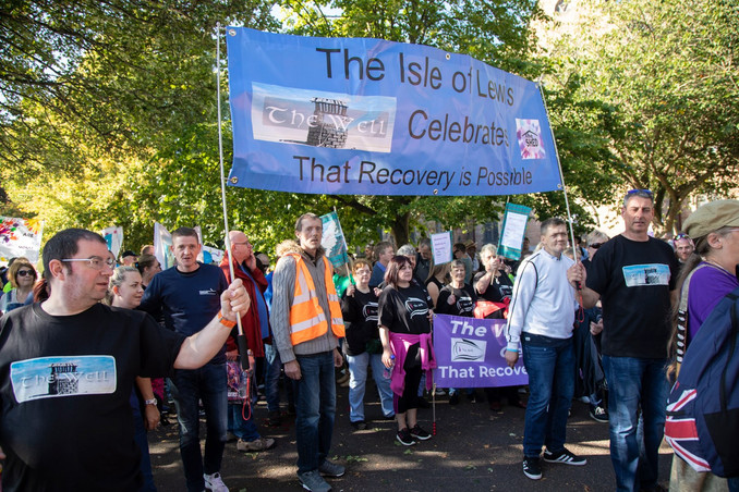 The Shed showing their support for the Recovery Walk and that Recovery is always possible!
