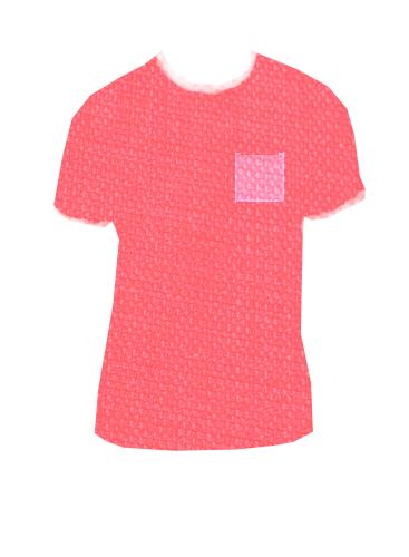 camiseta bolsillo cuadrado transparente
