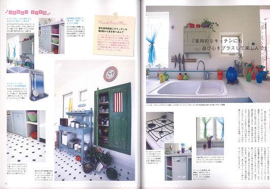 実用的なキッチン 遊び心 楽しむ ポップなアイテム ミーレ 食器棚を埋め込む 南仏アンティーク メリハリ収納 ポイントをおさえる