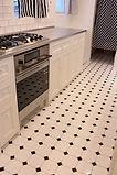 キッチン 洗面 床 八角形タイル タイルチップ
