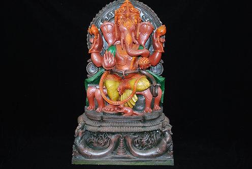 Ganesh with Riddhi & Siddhi