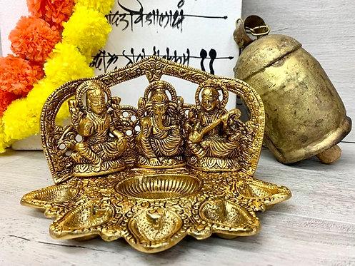 Laxmi, Ganesh & Saraswati Diva