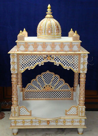 Made to order marble mandir