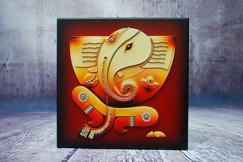 3D Jewelled Ganesh Wall Art