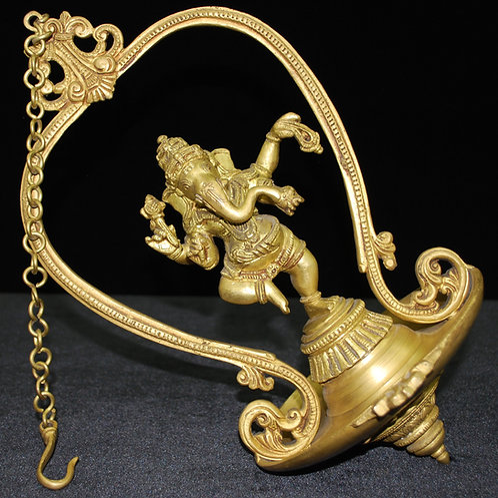 Brass Dancing Ganesh Diva