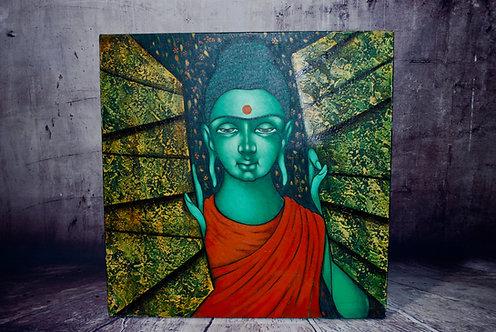 Original Oil Painting - Buddha