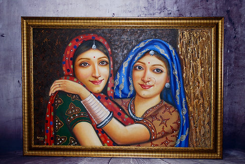 Original Rajashthani Oil Painting