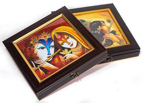 Contemporary Print Radha Krishna Gift Box