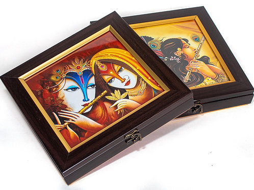 Contemporary Print Radha Krishna Gift Box
