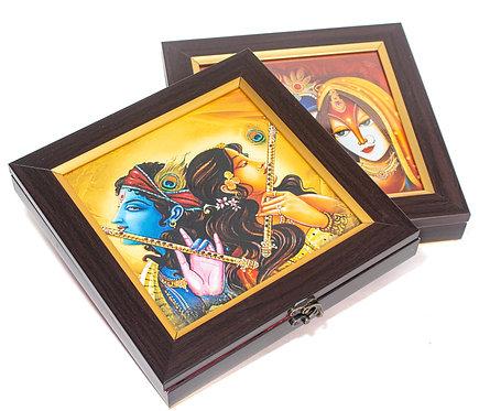 Traditional Print Radha Krishna Gift Box