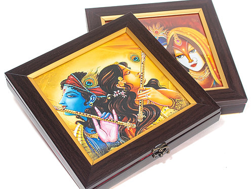 Traditional Print Radha Krishna Gift Box