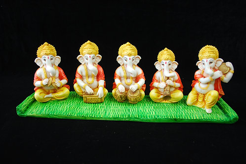 5 Ganesh's playing musical instruments