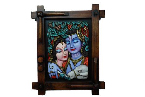3D Radha Krishna Wall Art