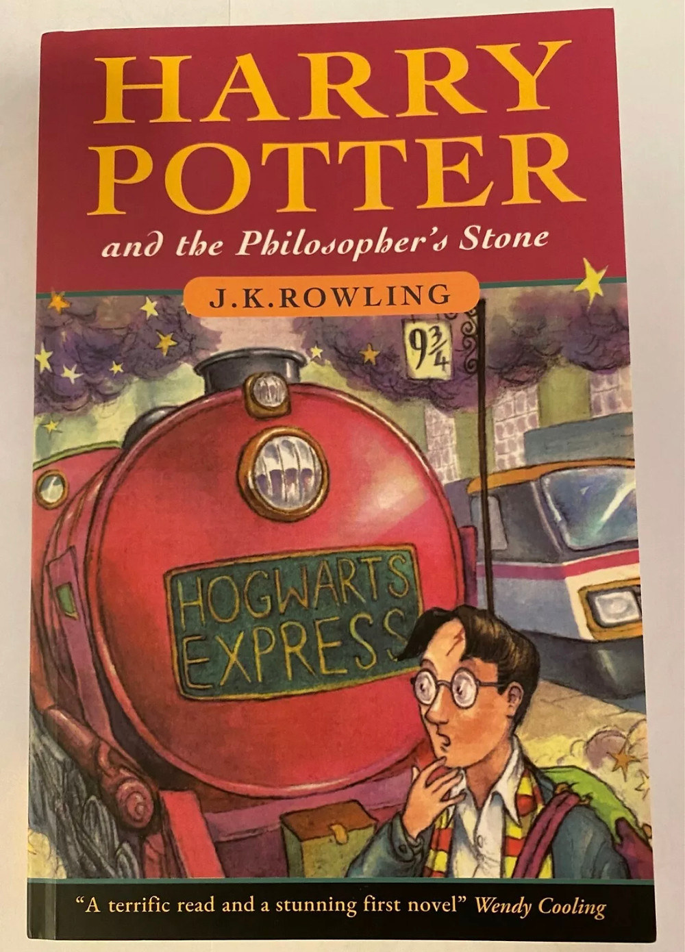 This book looks to an entirely FAKE copy of Harry Potter and the Philosopher's Stone, offered up for sale on eBay 10/2020