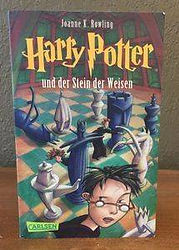 Harry Potter German Softcover Edition with Sabine Wilharm cover art Philosopher's Stone Book 1; Harry Potter und der Stein der Weisen