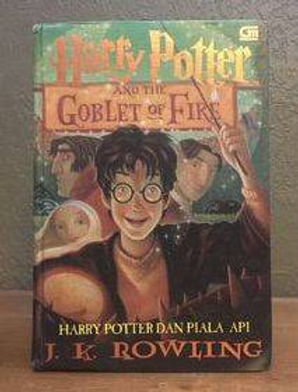 Harry Potter Indonesian 1st Edition Goblet of Fire, Harry Potter dan Piala Api Hardcover