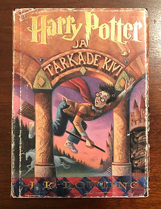 Harry Potter Estonian 1st Edition Hardcover Philosopher's Stone Book 1