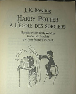 Harry Potter French 2nd Print 1st Edition Premovie Philosopher's Stone Ecole des Sorcies Book 1