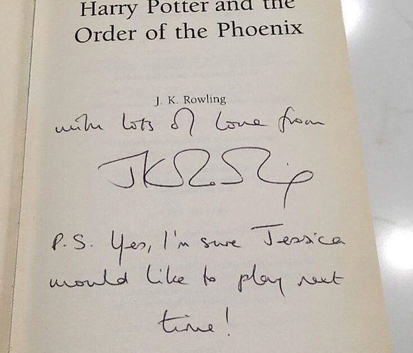 Authenic J.K. Rowling Signature