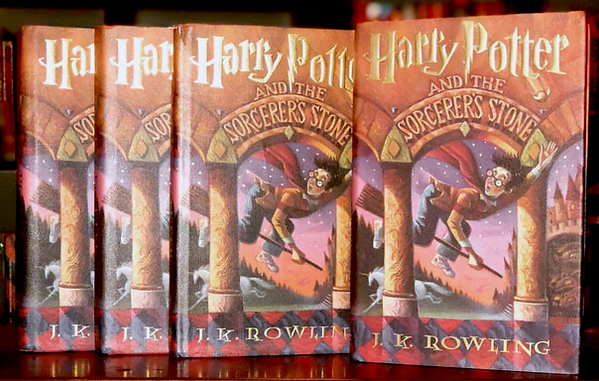 1st Edition of Harry Potter and the Sorcerer's Stone, published by Scholastic.