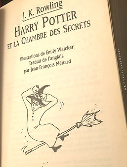 Harry Potter Title Page French 2nd Print Premovie Chamber of Secrets La Chambre des Secrets Book 2