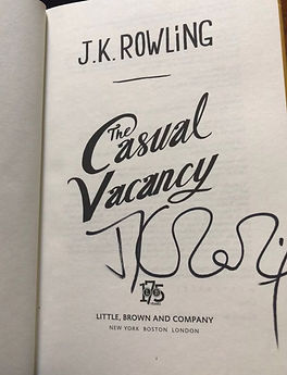 J.k. Rowling signature Forgery