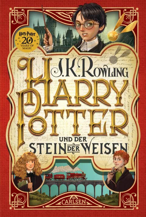 20th Anniversary German Harry Potter Philosopher's Stone Translation