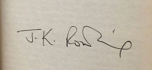 Authentic J.K. Rowling Signature, 1997