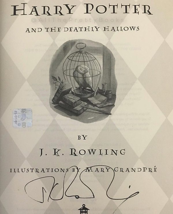 Authenic J.K. Rowling Signatue 2007 Hologram