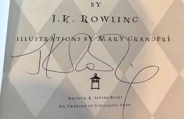 Authentic J.K. Rowling Signature, 1999