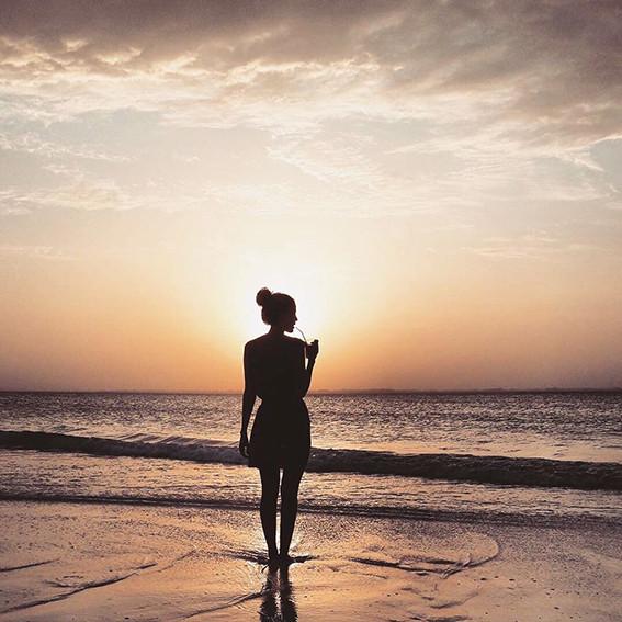 Sundowner in der Beachbar