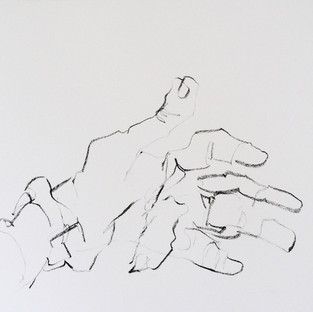 Blind contour of a hand 1