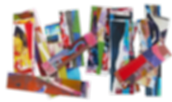 Stix -- print remnant collage sticks
