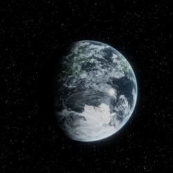 Frozen Exoplanet (Procedurally Generated)