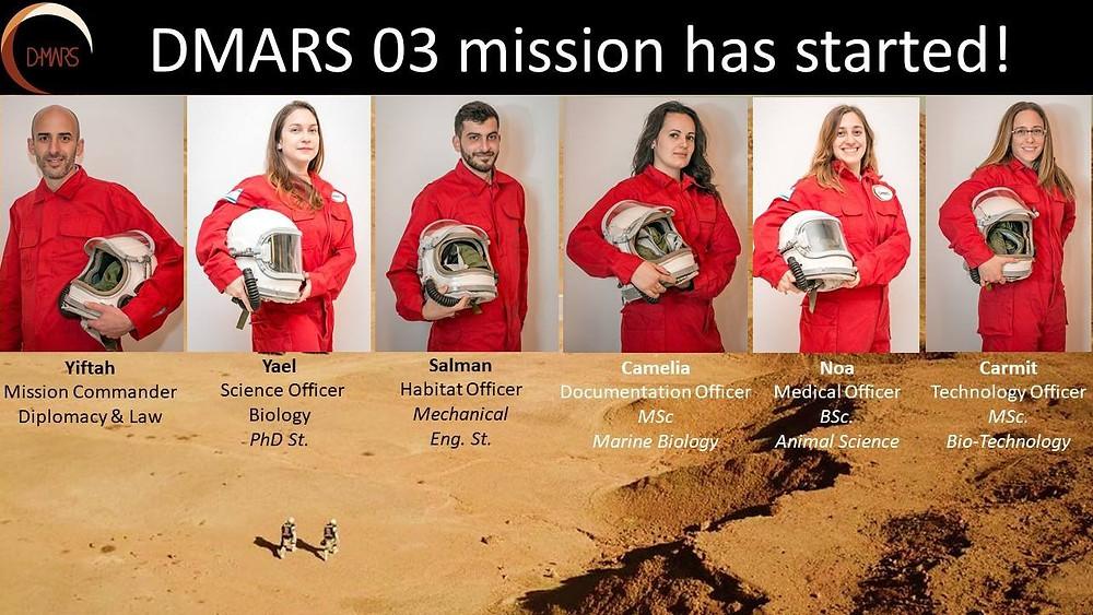 Crew of the third DMARS Mars Analog Mission