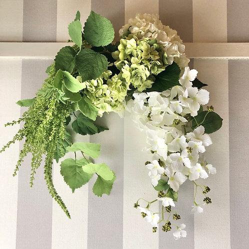 White hydrangea swag(artificial flower )
