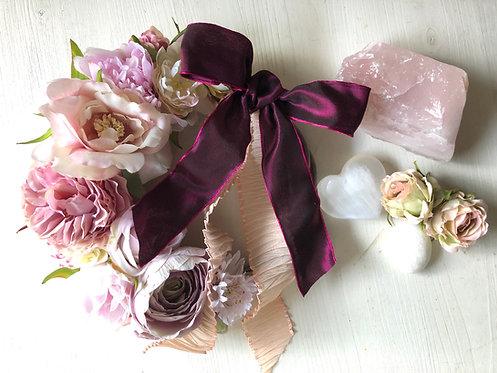 Sweet pink rose wreath(artificial flower )