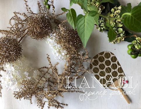 "Wall decoration ""HANABI"" white"