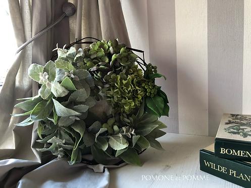 Green herb wreath(artificial flower )