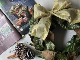 magnolia leaves wreath