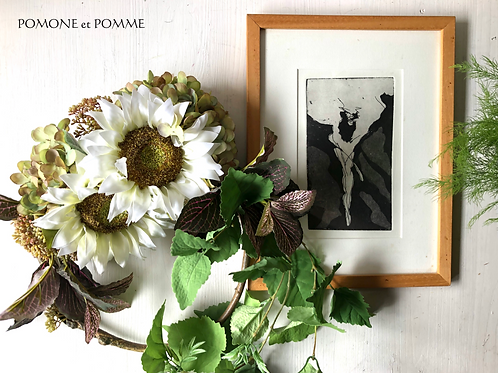 White Sunflower wreath (artificial flower )