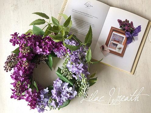 Lilac wreath(artificial flower )