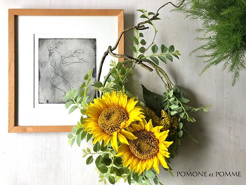 Sunflower wreath(artificial flower )