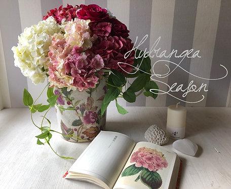 Pink hydrangea  (artificial flower )