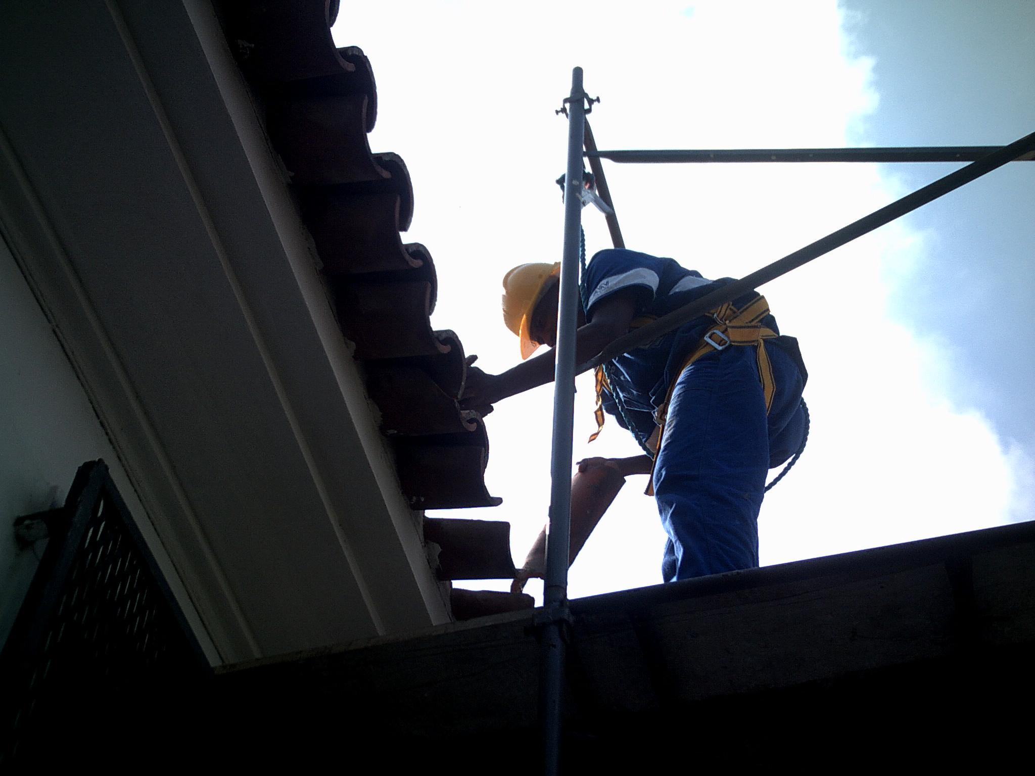 Obras em telhados