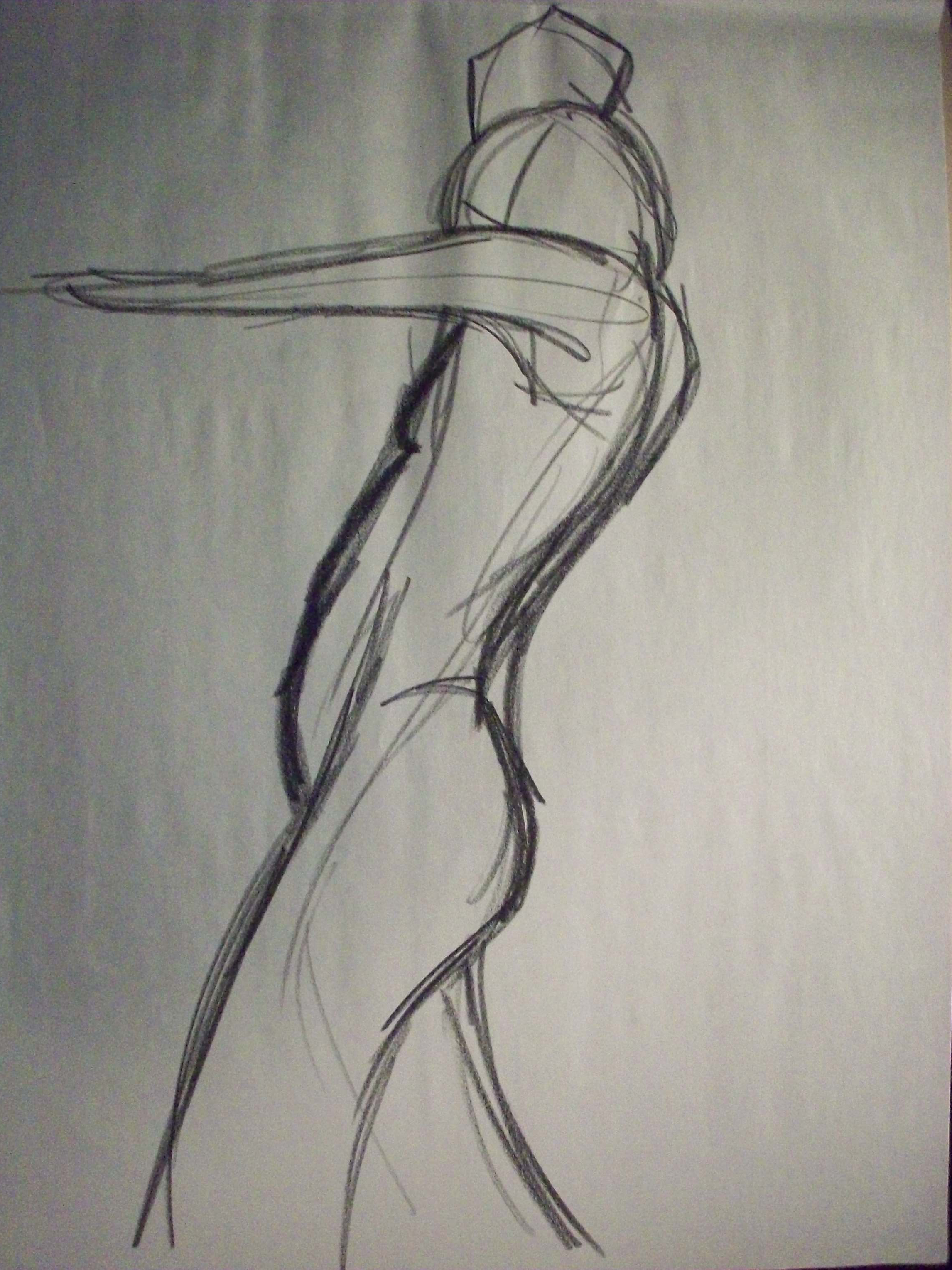 gesture drawing of a man
