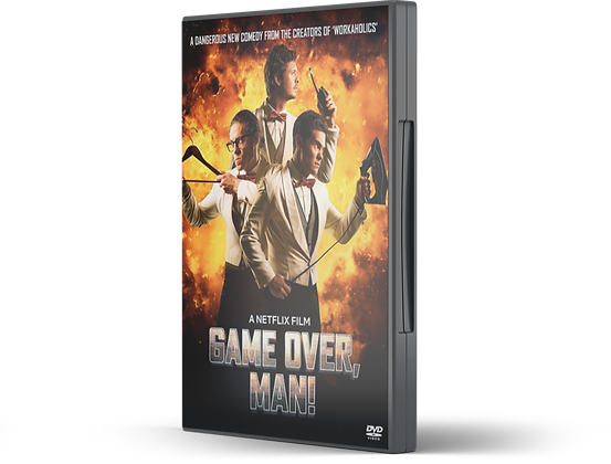 Game Over Man image of DVD Case and front cover