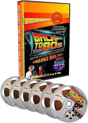 Back to the 80's CD product showing disc case and 6 discs