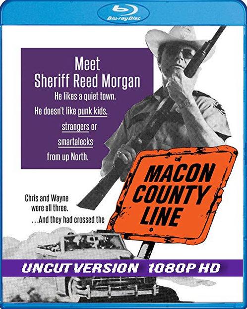 Macon County Line Blu Ray cover for Stinky Tuna